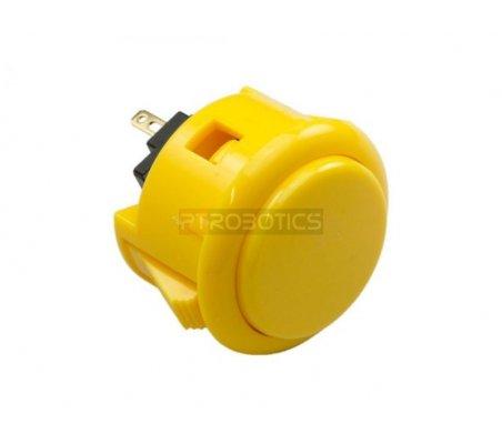 Official Sanwa Arcade Button - Amarelo | Arcade | ModmyPi