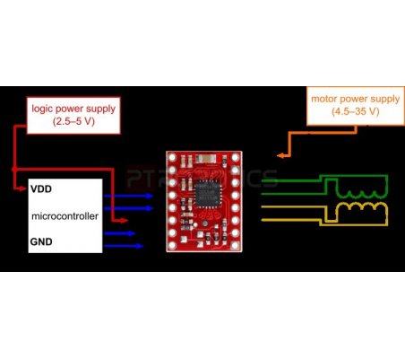 MP6500 Stepper Motor Driver Carrier Digital Current Control | Pontes H | Pololu