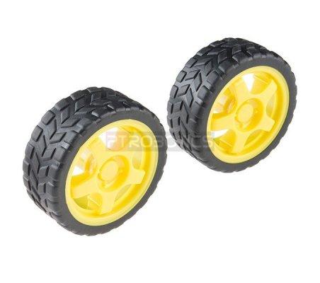Wheel - 65mm (Rubber Tire, Pair) | Rodas para Robôs | Sparkfun