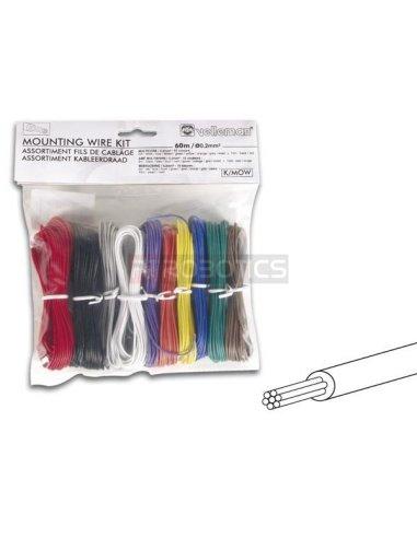 Velleman K/MOW 10 Color Stranded Mounting Wire Set Velleman