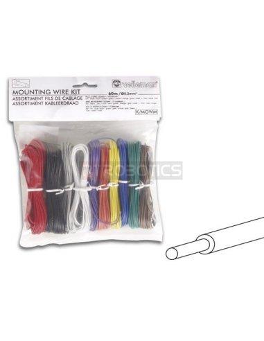 Velleman K/MOWM 10 Color Solid Core Mounting Wire Set Velleman