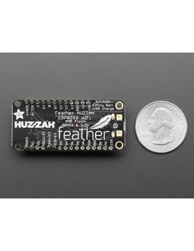 Assembled Feather HUZZAH w/ ESP8266 WiFi With Stacking Headers Adafruit