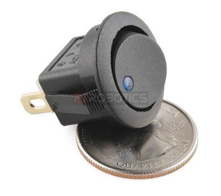 Rocker Switch - Round w/ Blue LED | Basculante | Sparkfun