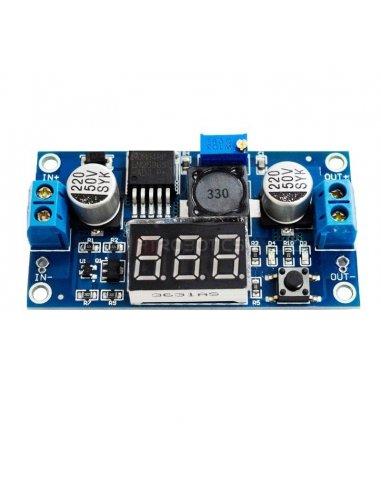 LM2596 - Regulador de Tensão DC-DC Ajustável com Display