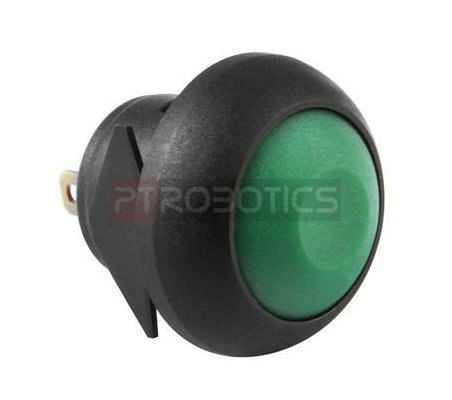 Push Button Domed Head Momentary 12mm - Green | Push Button |