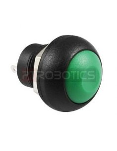 Push Button Domed Head Momentary 12mm - Green