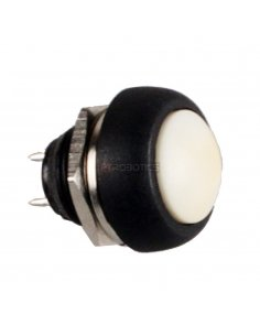 Push Button Domed Head Momentary 12mm - White