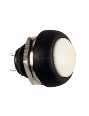Push Button Domed Head Momentary 12mm - White | Push Button |