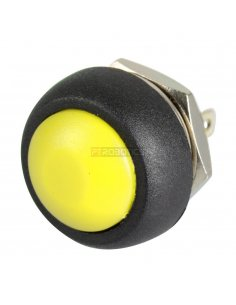 Push Button Domed Head Momentary 12mm - Yellow
