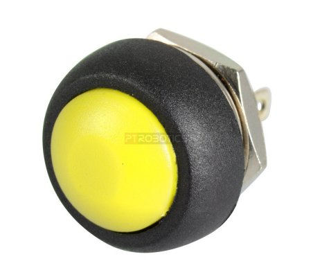 Push Button Domed Head Momentary 12mm - Yellow | Push Button |