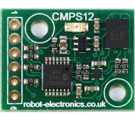 CMPS12 - Bússola com compensação de inclinação | Bussolas |