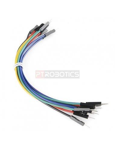 Jumper Wires Premium 6 M/M - 20 AWG (10 Pack) | Jumper Wires | Sparkfun