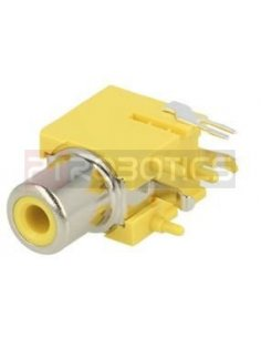 Chassis Phono RCA Socket PCB Yellow