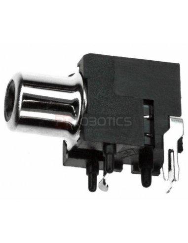 Chassis Phono RCA Socket PCB Black   Fichas Audio