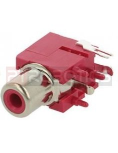 Chassis Phono RCA Socket PCB Red
