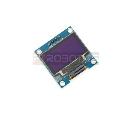 0.96inch OLED 128X64 w/ SPI/I2C interfaces and vertical pinheader 4pin - Azul and Amarelo