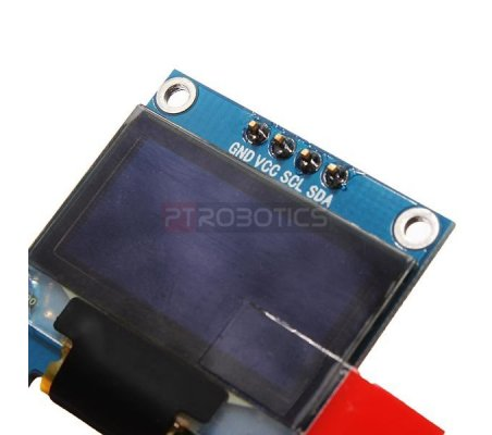 0.96inch OLED 128X64 Azul e Amarelo w/ SPI/I2C interfaces and vertical pinheader 4pin