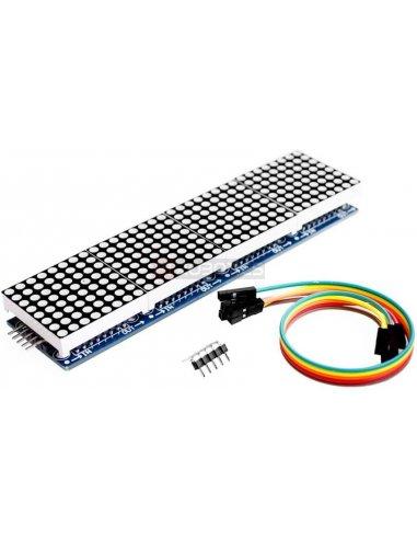 Módulo Matriz MAX7219 4 em 1 para Arduino - Vermelho