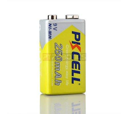 PKCELL NiMH Rechargeable Battery 9V 250mAh | Baterias NiMh e NiCd |
