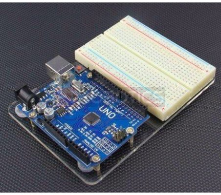 Acrylic Baseplate for Breadboard and Arduino Uno R3