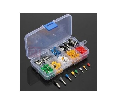 CT04 Wire Copper Crimp Connector Insulated Cord Pin End Terminal Kit w/ Box - 400pcs