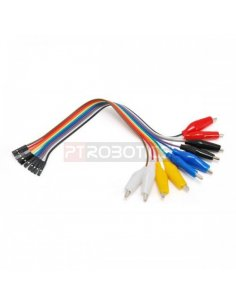 Alligator to Female Jumper Wires Cable 200mm - Pack of 10