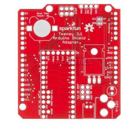 Teensy Arduino Shield Adapter   Teensy   Sparkfun