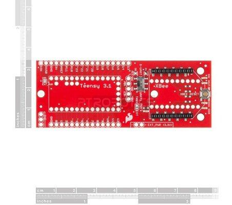 Teensy 3.1 XBee Adapter | Teensy | Sparkfun