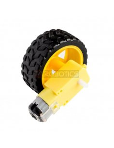 Rubber Wheel w/ Micro DC Geared Motor 3-6V