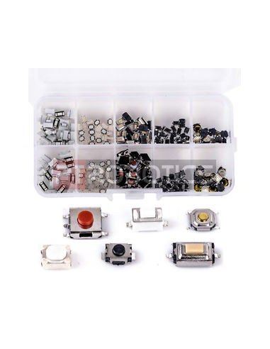 Tactile Button, Touch Switch and Remote Keys Kit w/ Box - 250pcs