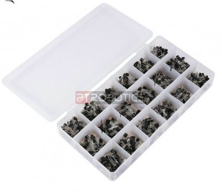 PTRobotics Transistor Assortment Kit w/ Box - 900pcs
