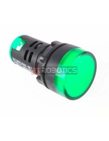 AD16-22DS 22mm DC 12V LED Indicator Light - Green | Indicadores Led |