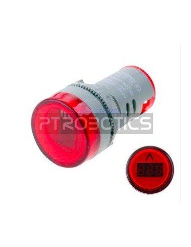 AD16-22DSV 22mm AC 60-500V LED Voltmeter Voltage Meter Indicator Pilot Light - Vermelho | Indicadores Led |