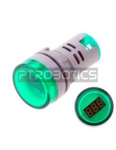 AD16-22DSV 22mm AC 60-500V LED Voltmeter Voltage Meter Indicator Pilot Light - Green