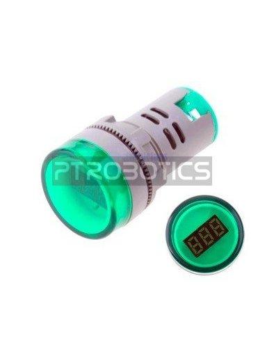 AD16-22DSV 22mm AC 60-500V LED Voltmeter Voltage Meter Indicator Pilot Light - Verde | Indicadores Led |