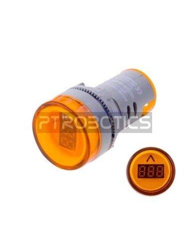 AD16-22DSV 22mm AC 60-500V LED Voltmeter Voltage Meter Indicator Pilot Light - Amarelo   Indicadores Led  