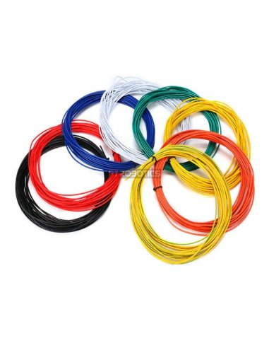 Wire 20AWG Verde-Amarelo 1m | Fio electrico |