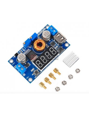 Adjustable 5A DC-DC Power Step-down Charge Module LED Driver w/ USB Voltmeter