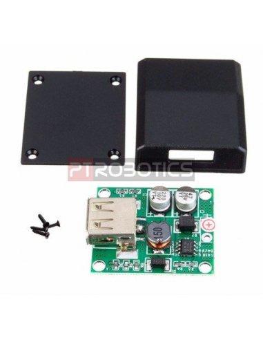 Universal Solar Panel Micro USB Voltage Regulator   Regulador de Voltagem w/ Box for Charger 5V-18V to 2A