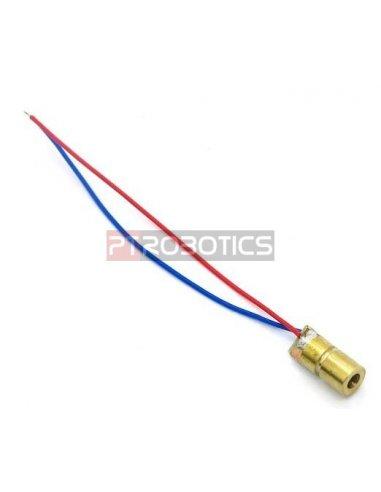 5mW Laser Emitter Ø6mm - Red Dot