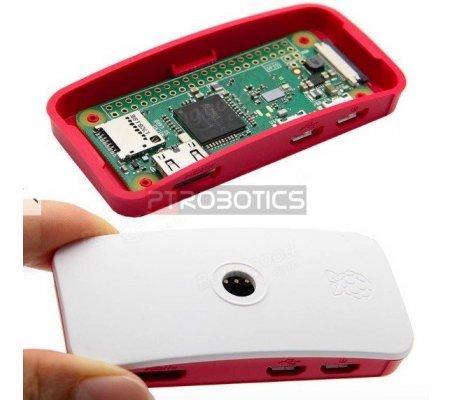 Official Raspberry Pi Zero Vermelho & Branco Case   Caixas Raspberry pi  