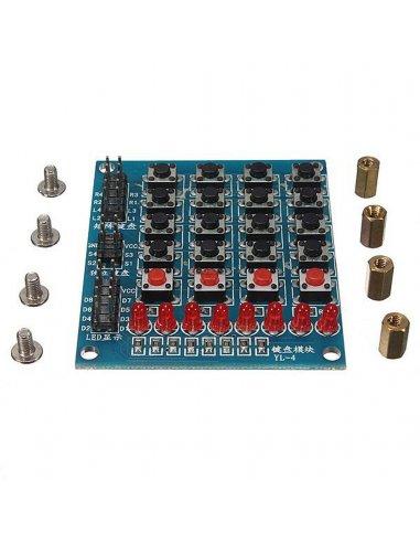 8 Led 16 Push Button Matrix Keypad | Botões e Teclados |