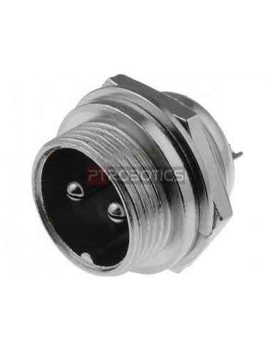 Multipin Circular MIC Connector - 2Pin Male Chassis | Conectores XLR e MIC |
