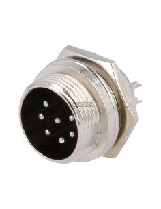 Multipin Circular MIC Connector - 7Pin Male Chassis
