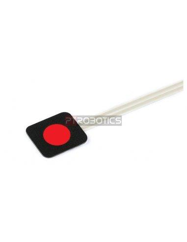 Sealed Membrane 1x1 button pad - Vermelho | Botões e Teclados |