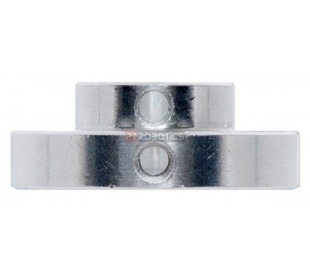 Pololu Universal Aluminum Mounting Hub for 8mm Shaft, M3 Holes (2-Pack) | Hub's e Suportes | Pololu