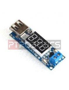 DC-DC Buck Converter 4.5-40V to 5V/2A Step-down USB Charger w/ Voltmeter display