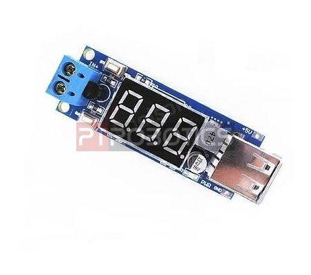 Módulo Conversor DC-DC Step-down Carregador USB com Voltímetro | Alimentação |