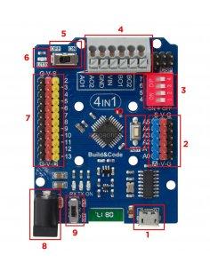 Ebotics Build & Code 4 in 1 Board