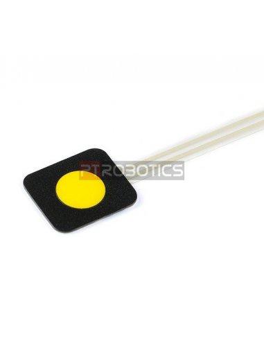 Sealed Membrane 1x1 button pad - Amarelo